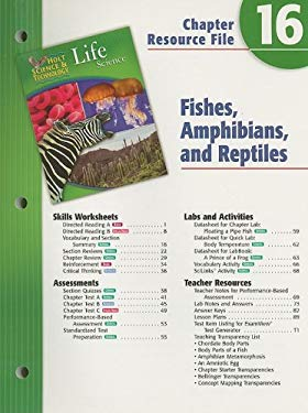 Holt Science & Technology Life Science Chapter 16 Resource File: Fishes, Amphibians, and Reptiles