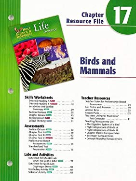 Holt Science & Technology Life Science Chapter 17 Resource File: Birds and Mammals
