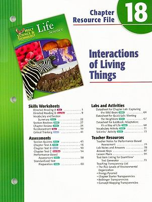 Holt Science & Technology Life Science Chapter 18 Resource File: Interactions of Living Things