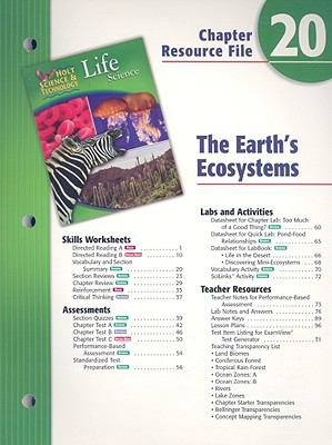 Holt Science & Technology Life Science Chapter 20 Resource File: The Earth's Ecosystem