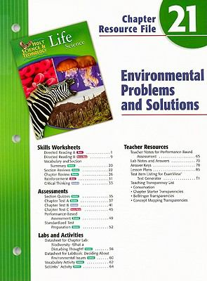 Holt Science & Technology Life Science Chapter 21: Environmental Problems and Solutions