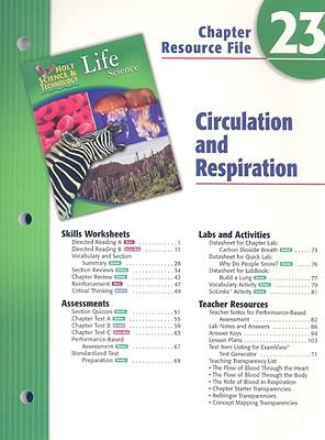 Holt Science & Technology Life Science Chapter 23 Resource File: Circulation and Respiration