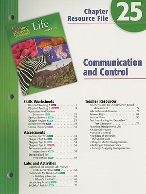 Holt Science & Technology Life Science Chapter 25 Resource File: Communication and Control
