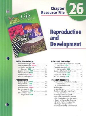 Holt Science & Technology Life Science Chapter 26 Resource File: Reproduction and Development