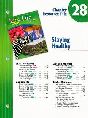 Holt Science & Technology Life Science Chapter 28 Resource File: Staying Healthy