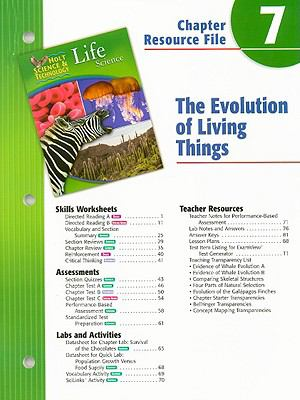 Holt Science & Technology Life Science Chapter 7 Resource File: The Evolution of Living Things