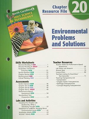 Holt Science & Technology North Carolina Grade 6 Chapter 20 Resource File: Environmental Problems and Solutions