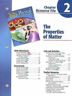 Holt Science & Technology Physical Science Chapte 2 Resource File: The Properties of Matter