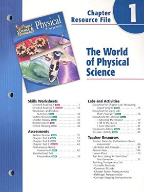 Holt Science & Technology Physical Science Chapter 1 Resource File: The World of Physical Science