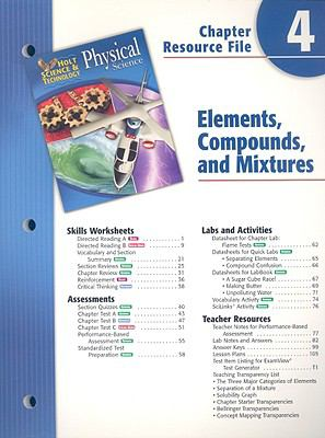 Holt Science & Technology Physical Science Chapter 4 Resource File: Elements, Compounds, and Mixtures