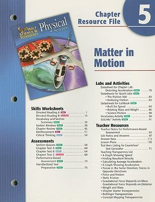Holt Science & Technology: Physical Science Chapter 5 Resource File: Matter in Motion