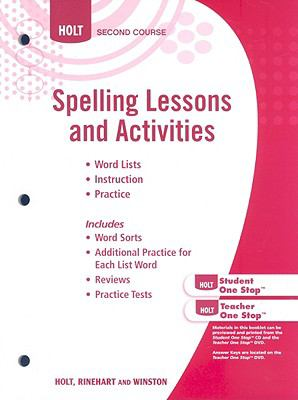 Holt Second Course Spelling Lessons and Activities