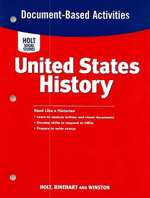 Holt Social Studies United States History Document-Based Activities