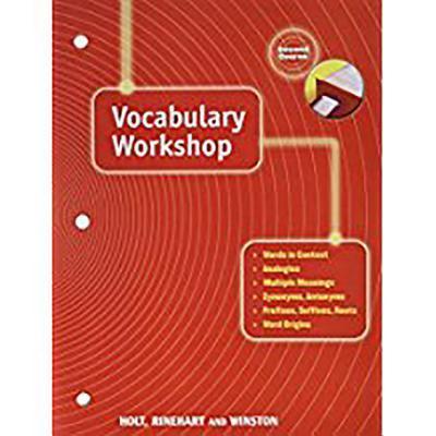 Holt Traditions Vocabulary Workshop: Vocab Workshop Grade 8