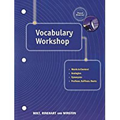Holt Traditions Vocabulary Workshop: Vocab Workshop Grade 9