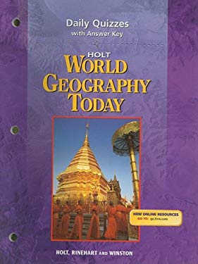 Holt World Geography Today Daily Quizzes with Answer Key