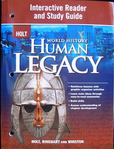 Holt World History: Human Legacy Interactive Reader and Study Guide