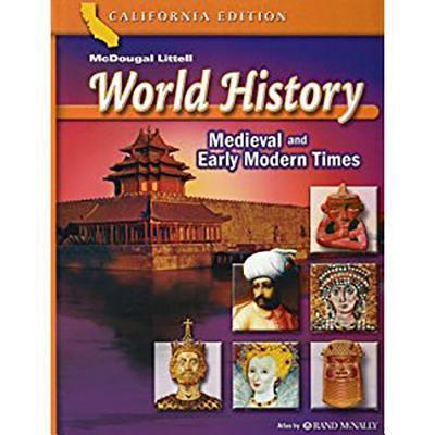 Holt World History California: Spanish Student Edition Grades 6-8 Medieval Times 2006