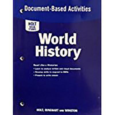 Holt World History: Doc Based Activity Grades 6-8