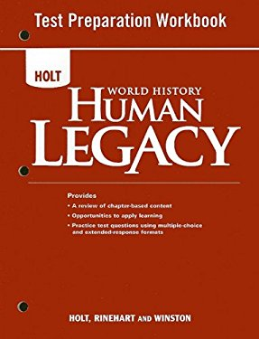 Holt World History: Human Legacy Test Preparation Workbook