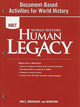 Holt World History Human Legacy Document-Based Activities for World History
