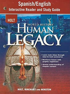 Holt World History Human Legacy Spanish/English Interactive Reader and Study Guide