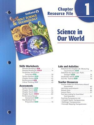 Indiana Holt Science & Technology Chapter 1 Resource File: Science in Our World