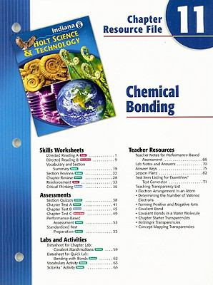 Indiana Holt Science & Technology Chapter 11 Resource File: Chemical Bonding