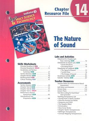 Indiana Holt Science & Technology Chapter 14 Resource File: The Nature of Sound