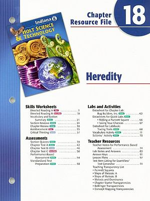 Indiana Holt Science & Technology Chapter 18 Resource File: Heredity