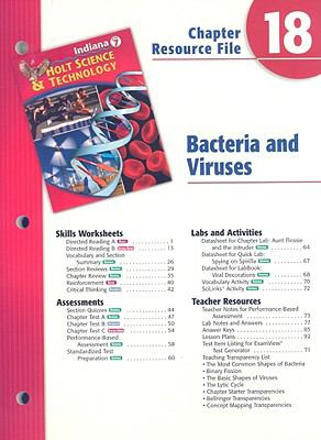 Indiana Holt Science & Technology Chapter 18 Resource File: Bacteria and Viruses