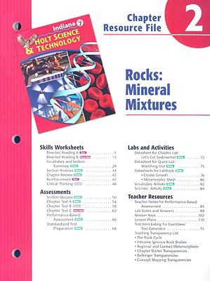 Indiana Holt Science & Technology Chapter 2 Resource File: Rocks