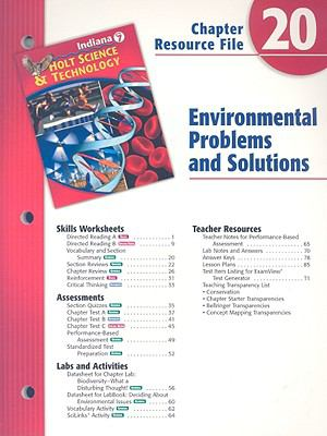 Indiana Holt Science & Technology Chapter 20 Resource File: Environmental Problems and Solutions