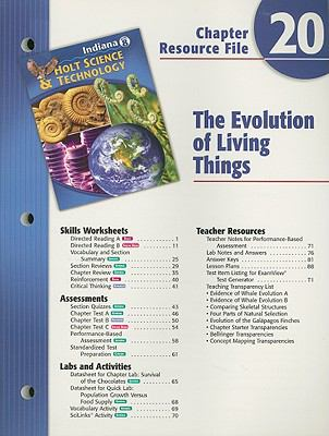 Indiana Holt Science & Technology Chapter 20 Resource File, Grade 8: The Evolution of Living Things