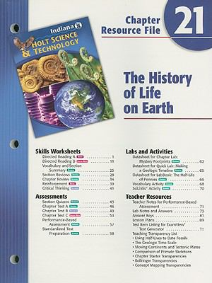 Indiana Holt Science & Technology Chapter 21 Resource File, Grade 8: The History of Life on Earth