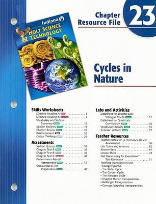 Indiana Holt Science & Technology Chapter 23 Resource File: Cycles in Nature