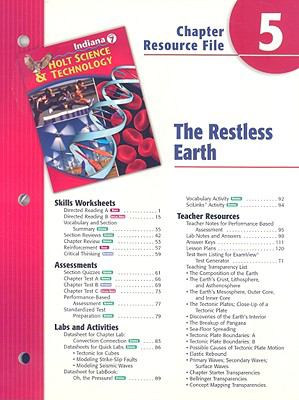 Indiana Holt Science & Technology Chapter 5 Resource File: The Restless Earth