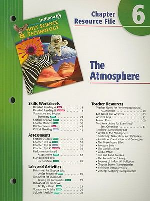 Indiana Holt Science & Technology Chapter 6 Resource File: The Atmosphere: Grade 6