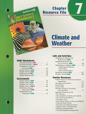 Indiana Holt Science & Technology Chapter 7 Resource File: Climate and Weather: Grade 6