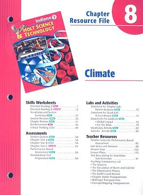 Indiana Holt Science & Technology Chapter 8 Resource File