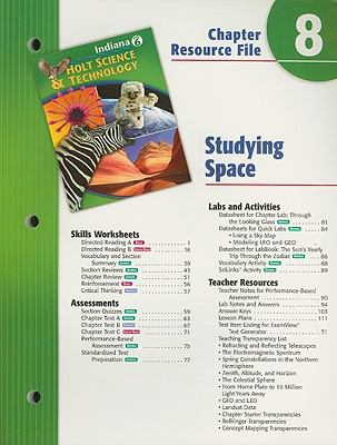Indiana Holt Science & Technology Chapter 8 Resource File: Studying Space: Grade 6