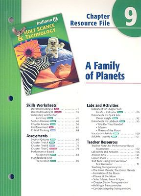 Indiana Holt Science & Technology Chapter 9 Resource File: A Family of Planets