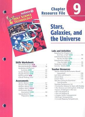 Indiana Holt Science & Technology Chapter 9 Resource File: Stars, Galaxies, and the Universe