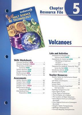 Indiana Science & Technology Chapter 5 Resource File: Volcanoes