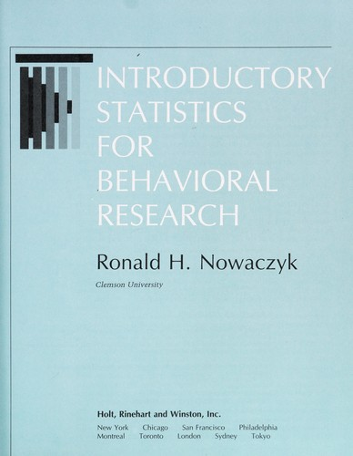 Introductory Statistics for Behavioral Research