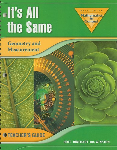 It's All the Same: Geometry and Measurement