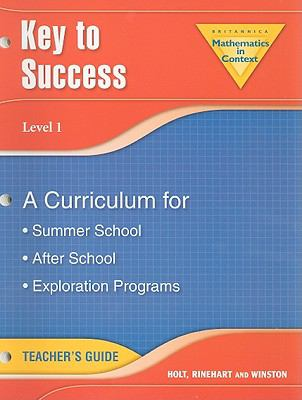 Key to Success, Level 1: A Curriculum for Summer School, After School, Exploration Programs