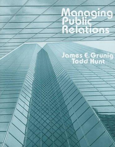 Managing Public Relations CL