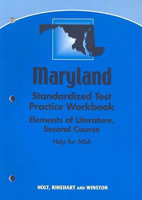 Maryland Standardized Test Practice Workbook: Elements of Literature, Second Course