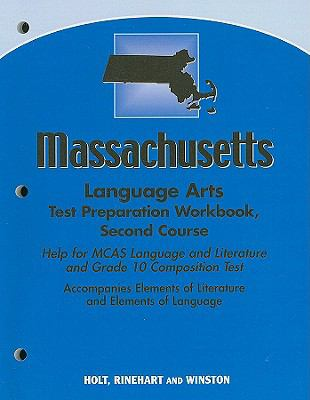 Massachusetts Language Arts Test Preparation Workbook, Second Course